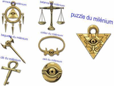 yu gi oh les objets du millenium