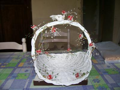 Panier en osier deco mariage bapteme ex for Decoration osier pour jardin