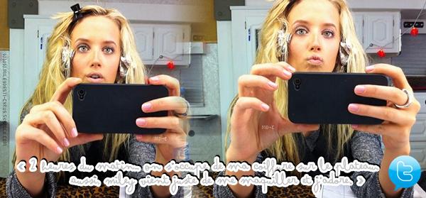 """____  (2011) Miley sur le tournage de So Undercover.  ____  + (2011)  La co-star de Miley dans """"So U."""" , Megan Park , a posté une photo et un message sur Twitter  ____  Top/flop?"""