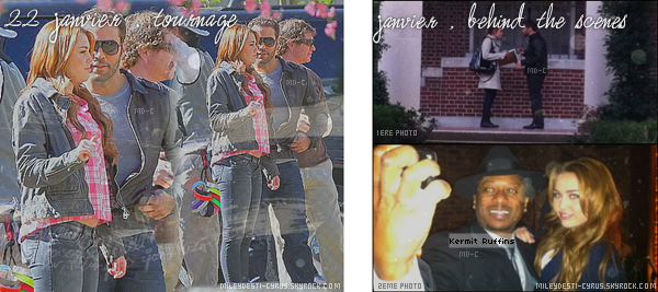 """____  (2011) Miley sur le tournage de """"So U."""".  ____  + (2011)  Miley en coulisses ( 2ème , elle est avec un chanteur Jazz)____  + (2011) Miley à la Wrap Party de So Undercover , Nouvelle-Orléans .   ____  Top/flop?"""