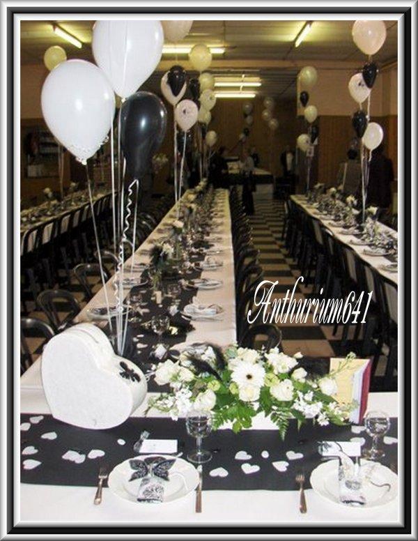 d coration salle de mariage noir et blanc blog de