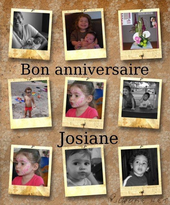 Bon anniversaire Josiane
