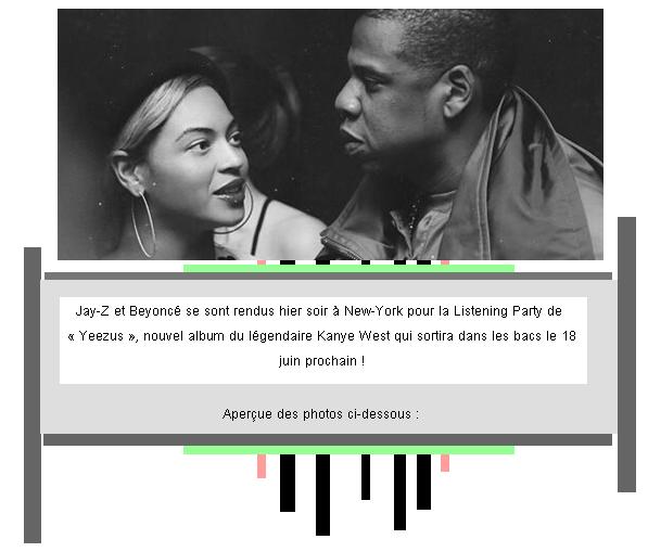 Article 37 : Les Carter se rendent à la Listening Party du nouvel album de Kanye West.