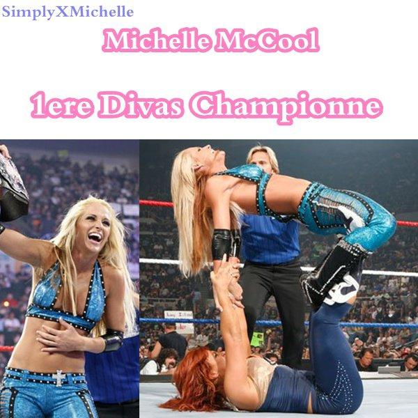 Michelle Mccool , 1ere Divas Champion ! ♥