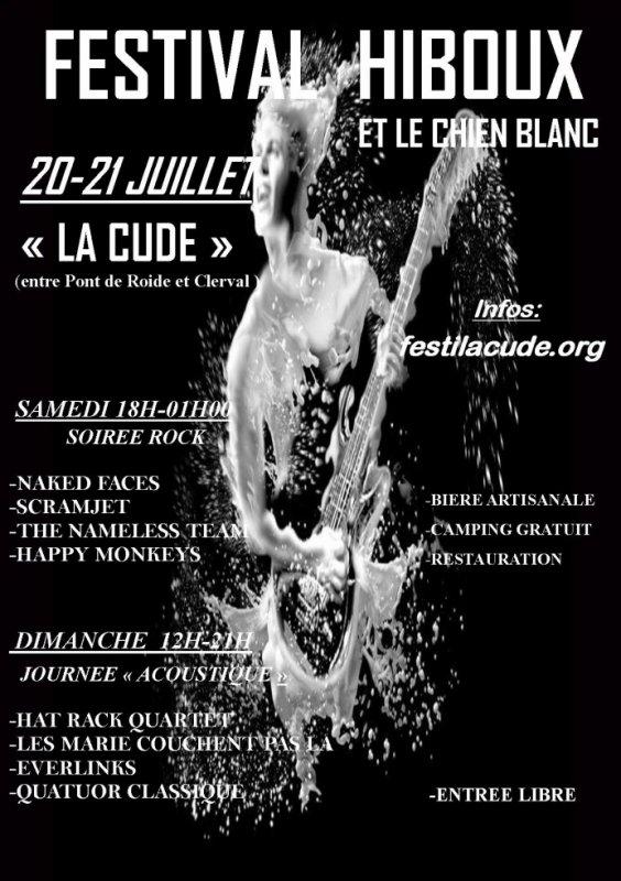 Affiche Festival Hiboux et le Chien blanc