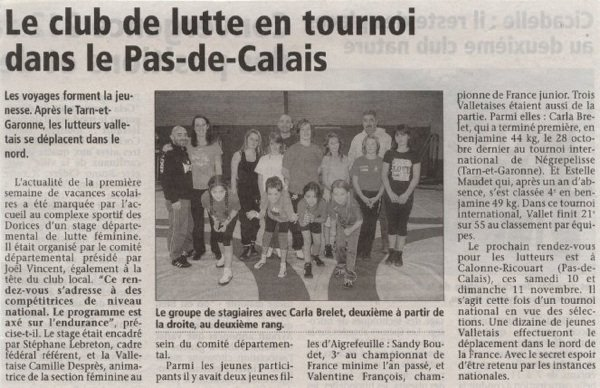 article ouest France et l'hebdo stage féminin