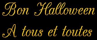 Bon halloween à tous et toutes