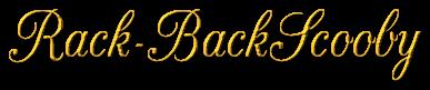 Pour mon homme Rack-BackScooby