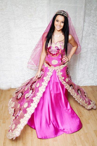 Robe princesse fushia