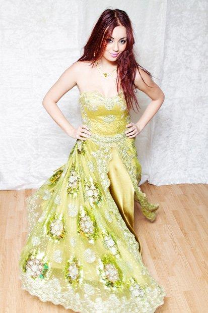 Robe princesse vert Kaki