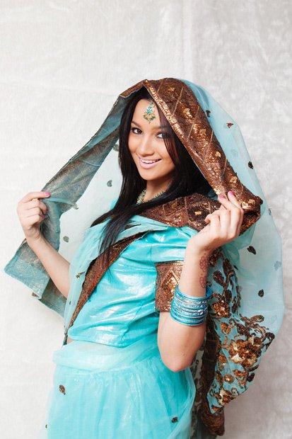 Sari turquoise