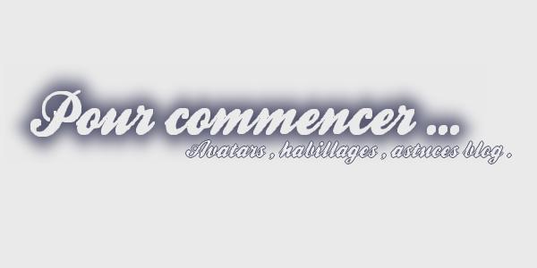 ஐPour commencer...par PerfectxBlog