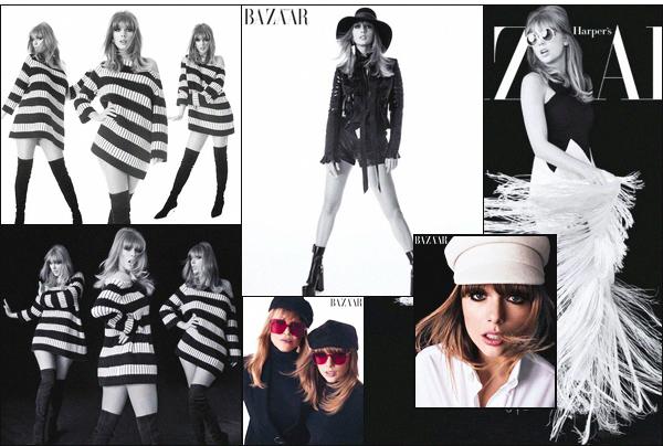 """"""" ● La jolie Taylor fera la couverture du magazine «Harper's Bazaar» pour l'édition d'août 2018 !Nous retrouvons donc notre jolie blonde sous l'objectif d'Alexi Lubomirski avec qui elle a réalisée ce beau photoshoot, majoritairement noir et blanc ! -"""