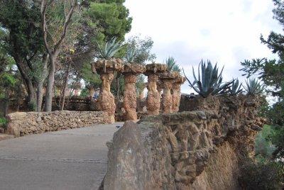 Barcelone - Nouvel An 2010                   Visite au Parc Güell