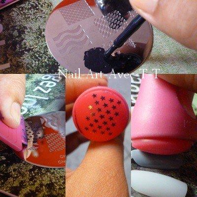 le Stamping nail art