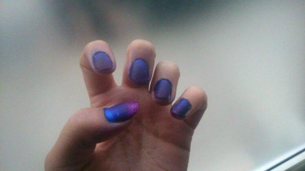 nail art sur dégradé acrylique