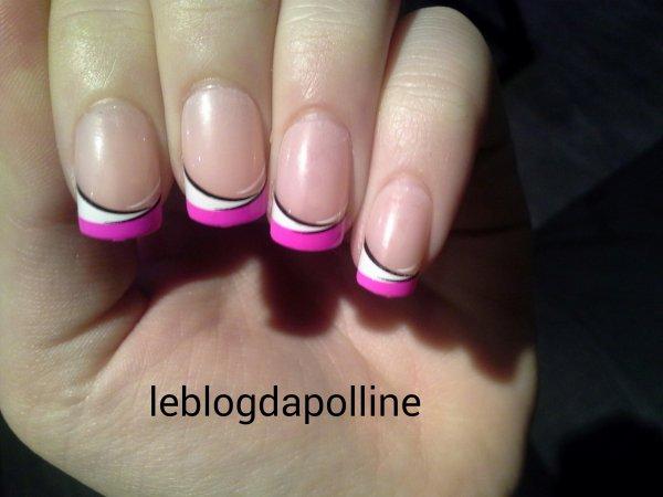 💅faux ongles rose , blanc , noir !👌💅