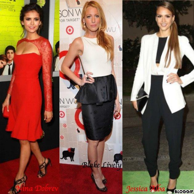 3 tenues pour les fêtes (Nina Dobre, Blake Lively et Jessica Alba)