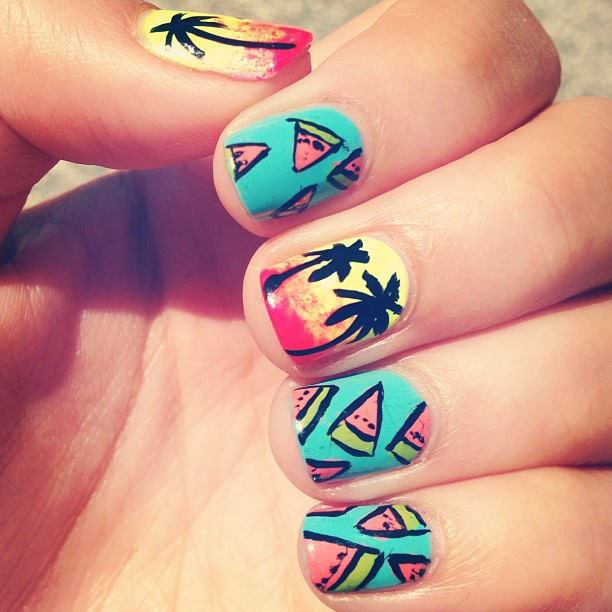 Tuto nail art d'Ashley Tisdale