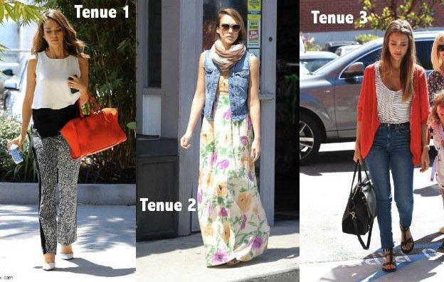 3 tenues de Jessica Alba