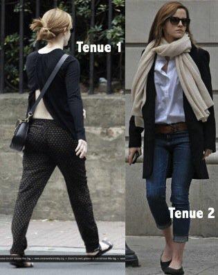 Tenues / Make-up / Coiffure d'Emma Watson