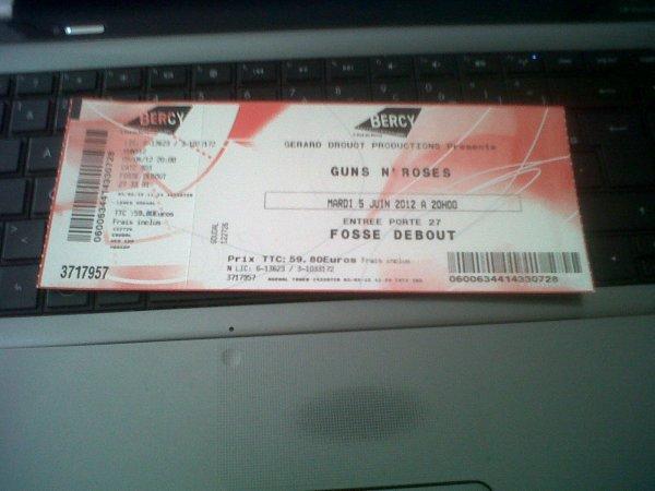 Maplace de concert Pour le concerte ...5juin 2012