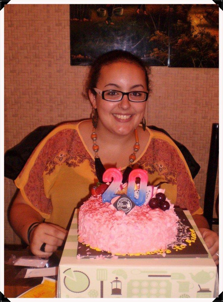 20 ans souvenirs : gâteau rose !