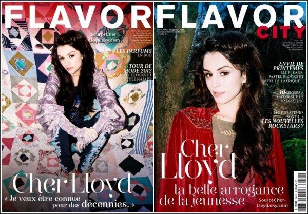 Photoshoot -  Deux magnifique photo de Cher Lloyd en couverture pour le magazine ''Flavor City'' 2012.