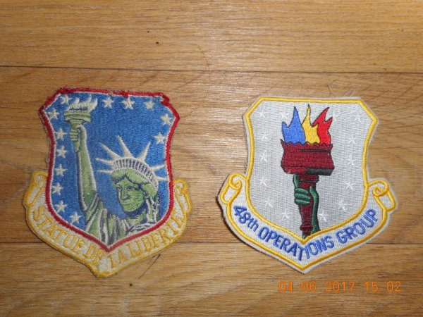 INSIGNE AMERICAIN 48th Fighter Wing