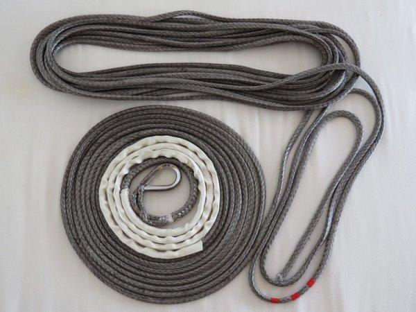 corde plasma dyneema de 8 mm 5.3 t à 16mm 19 t pour treuil