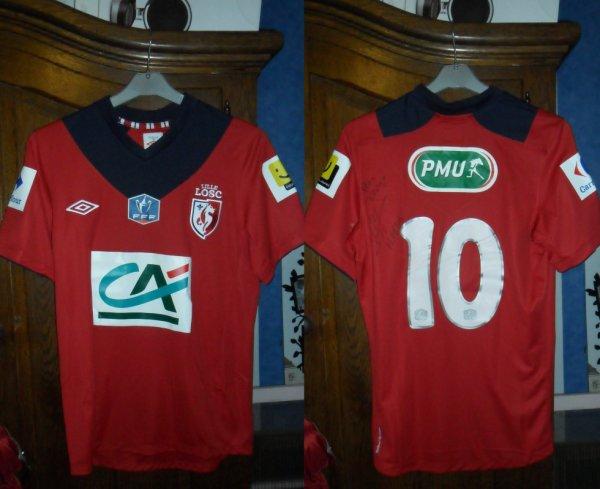 Le Maillot de Marvin MARTIN Losc 3-2 Nîmes Coupe de France 32es de finale 05.01.2012
