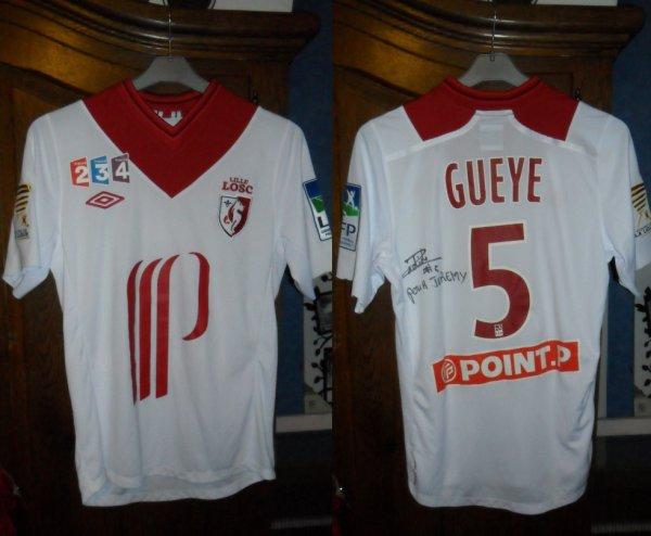 Le Maillot de Idrissa Gueye  Bastia 0-3 Lille Coupe de la Ligue Quarts de finale 29.11.2012