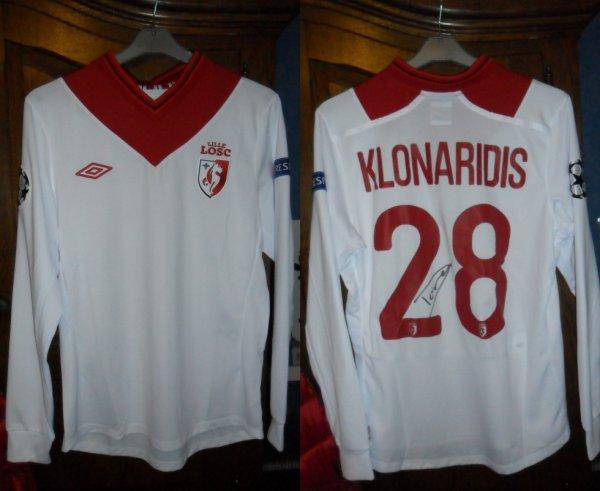 Le Maillot Dorian Klonaridis  FC Bayern München - Lille 07.11.2012 ligue des champions