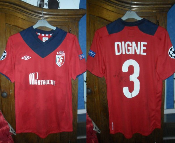 Le Maillot de Lucas Digne Losc 1-3 Fc Bate Borisov Ligue des champions 19.09.2012