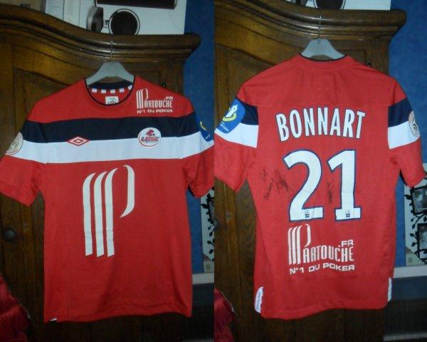 Le Maillot de Laurent Bonnart Lille - Caen 07.05.2012 en Ligue 1
