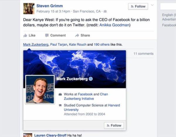 La réponse cinglante du fondateur de Facebook