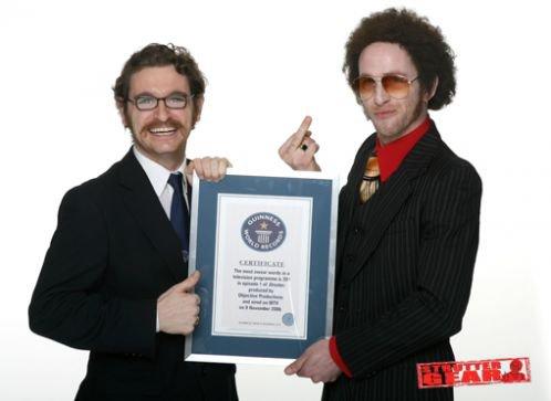 Mike Strutter aka Paul Kaye a obtenu un record Guiness Book!