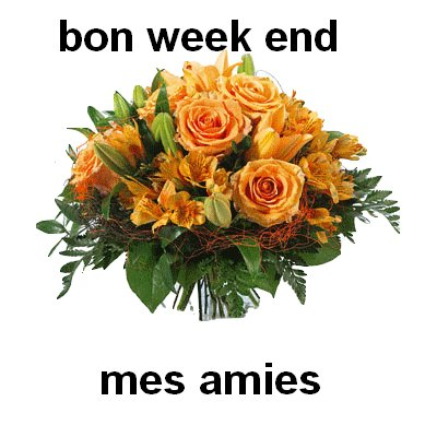 bon week end les amies