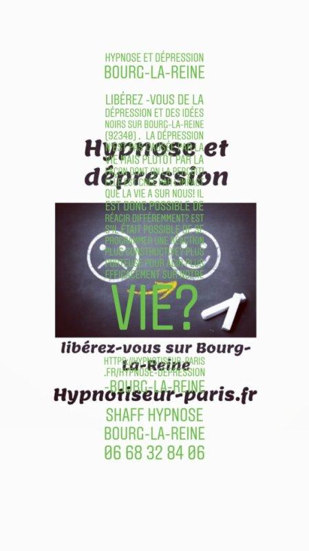 Hypnose et dépression par Shaff Hypnose Bourg-La-Reine