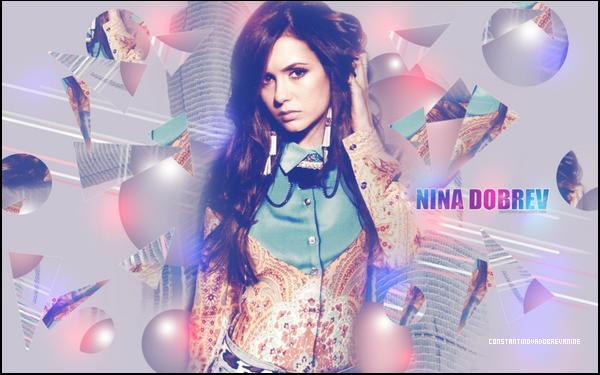 • ConstantinovaDobrevaNine, ta nouvelle source sur la belle Nina Dobrev !