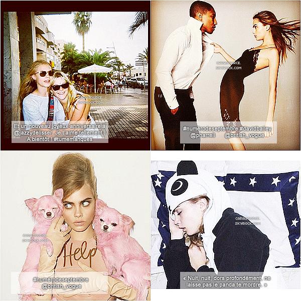 .  Voici les photos les plus récentes de Cara sur ses comptes « Instagram » et puis « Tumblr ».__.