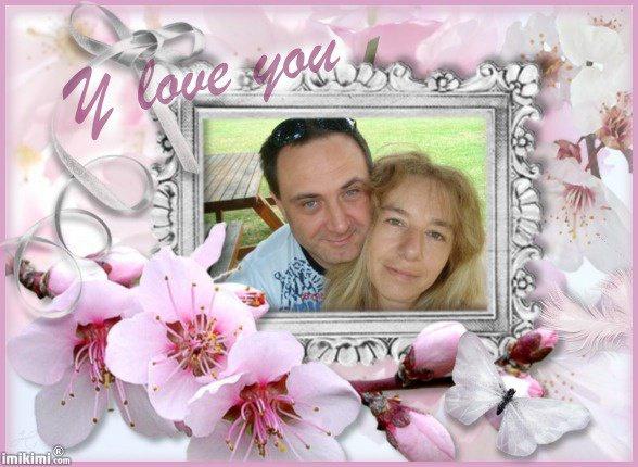 mon mari et moi , déjà 18 ans de vie commune et 10 ans de mariage , je t'aime tjs autant et meme plus encore