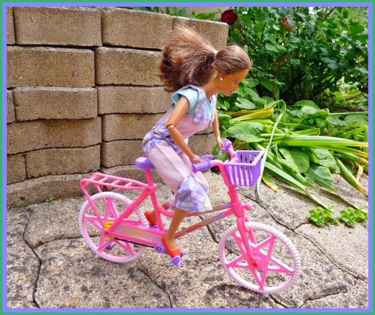 Teresa fait du vélo...