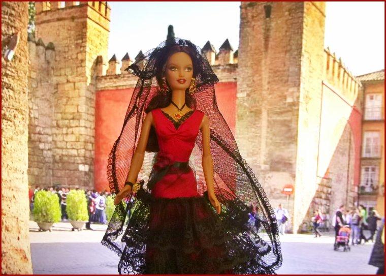 Barbie espagnole à Seville...