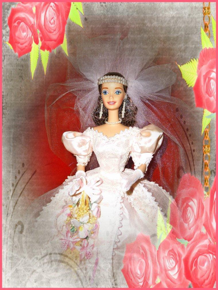 Blushing Orchid Bride Porcelain