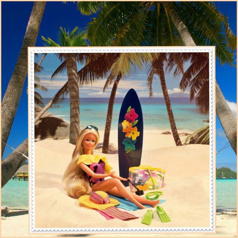 Dernières photos de vacances de Barbie...