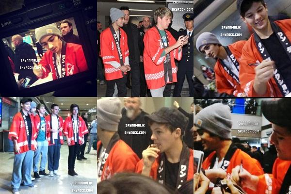 16 Janvier 2013 - ( Suite )  Zayn a été aperçu arrivant  à l'aéroport de Tokyo, au Japon.