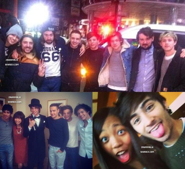 19 Janvier 2013 - Zayn aperçu dans la ville de Tokyo avec des fans, et le groupe. Japon