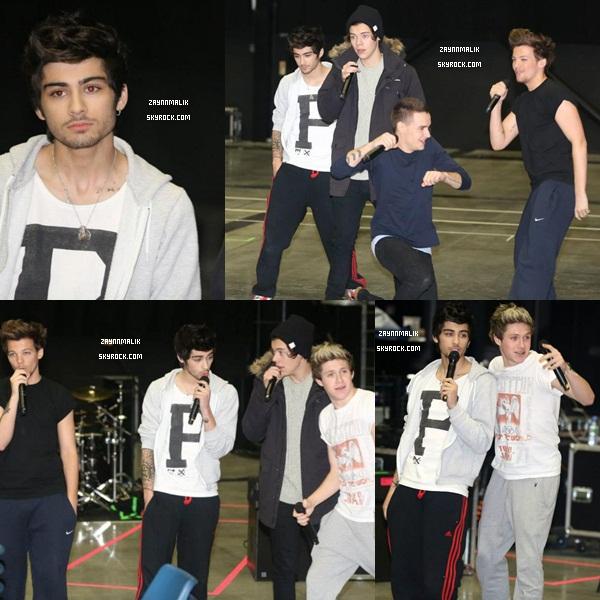 D'autres photos de Zayn pendant les répétitions pour le Take Me Home Tour ce   02 Février  2013