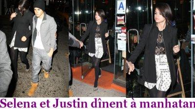 Justin et Selena dînent à Manhatan